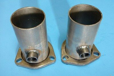"2.5/"" HEADER TO 2.5/"" OD W// 02 3 BOLT GASKET STYLE COLLECTOR REDUCERS ALUMINIZED"