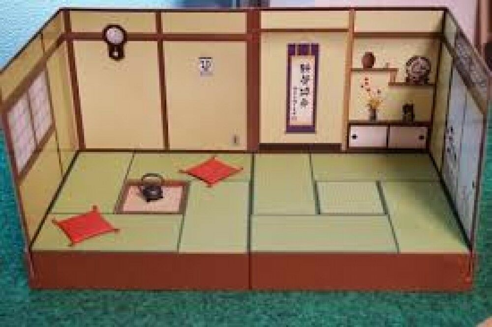 Pose skeleton Japanese-style Tatami set from Re-Ment Japan
