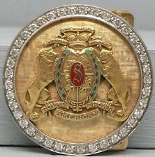 Royal American Shows 14k Gold and Diamond Belt Buckle The World's Largest Midway