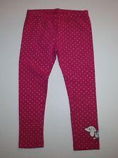 New Gymboree Pink Dot Dachshund Dog Leggings Pants Size 2T Everyday Basics Line