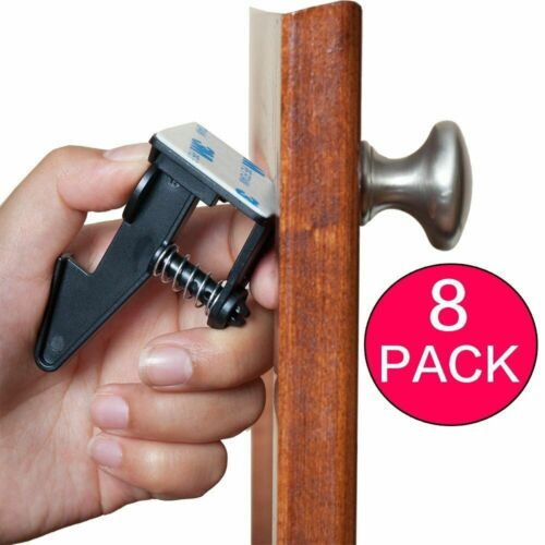 Cabinet Locks Child Safety Latches Quick and Easy Adhesive Baby Proofing Lock No