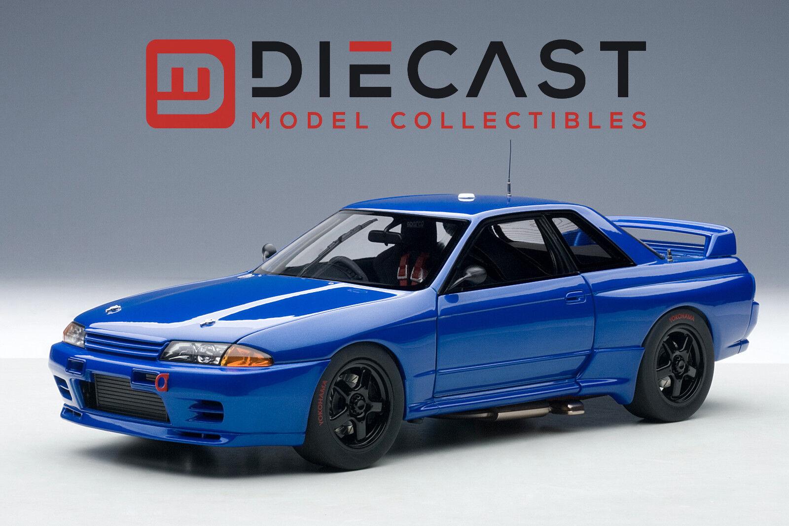 AUTOART 89281 Nissan Skyline GT-R (R32) Australian Bathurst Race 1992 bleu 1 18