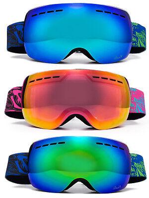 Cloud 9  Purple Snow Ski Goggles Anti Fog Dual Lens UV Protection 3 Layers Foam