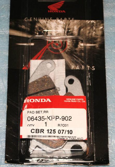 Genuine Honda Rear Brake Pads 06435-KPP-902 for CBR125R 2004-2010