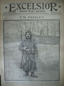 WW1-N-1547-LE-POILU-DES-TRANCHeES-SOMMEILLES-SERMAIZES-JOURNAL-EXCELSIOR-1915