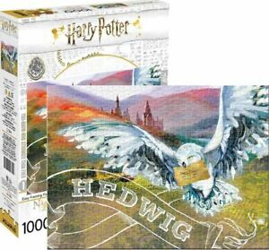Harry-Potter-Hedwig-1000-Piece-Jigsaw-Puzzle-710-mm-x-510-mm-Presque-comme-neuf