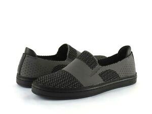 15d6f5977a2 UGG Women's Sammy Slip On Black Gray Knit Hyper Weave Casual Sneaker ...