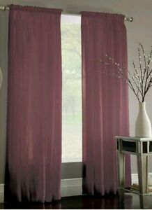 Miller Curtains Sheer Preston Rod Pocket 52 Quot X108 Quot Window