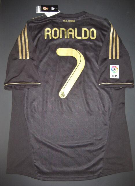 14baf52ac2f New Adidas 2011 2012 Real Madrid Cristiano Ronaldo Away Black Jersey Shirt  Kit
