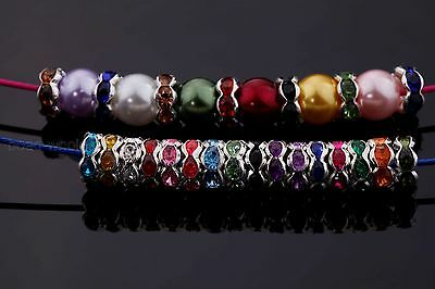 100pcs 8MM Rondelle Crystal Rhinestone Spacer Beads Findings Jewelry Making