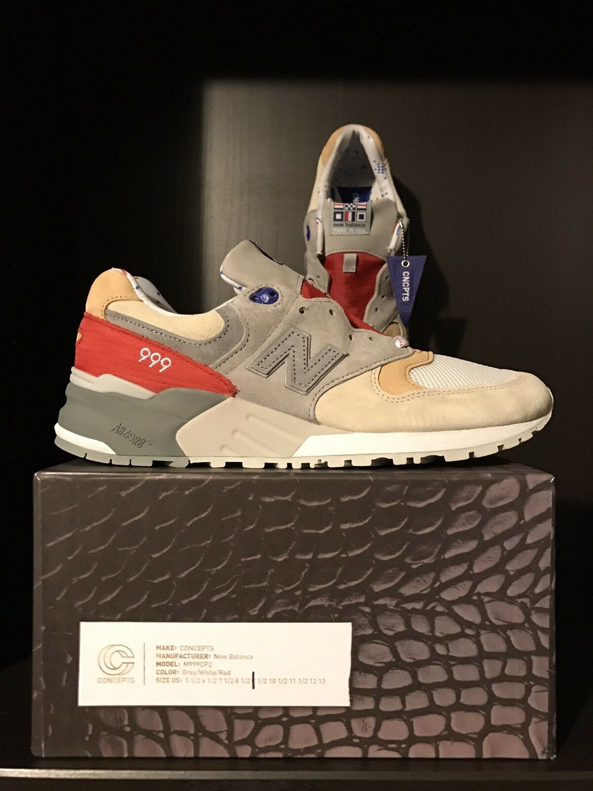 2018 Concepts/Cncpts X 2018 Hyannis/New Balance Kennedy  TALLA TALLA  9 432f79