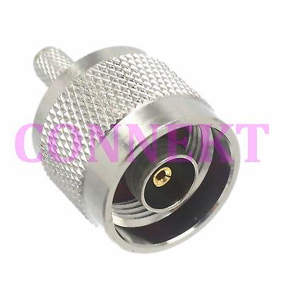 1pce RP-N male jack crimp RG58 RG142 LMR195 RG400 RF connector