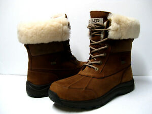 ae3ccf8de3 Image is loading UGG-ADIRONDACK-III-WOMEN-WINTER-BOOTS-LEATHER-CHESTNUT-