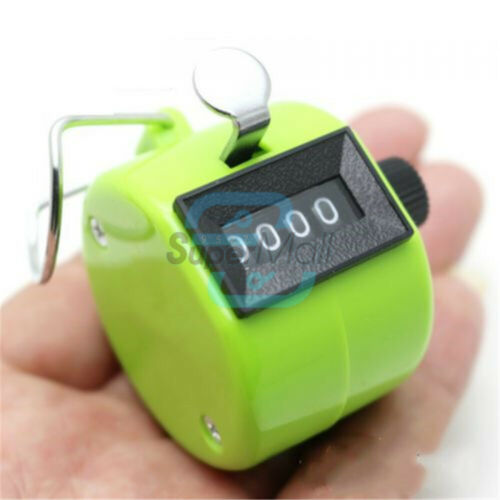 Mini 4 Digits Handheld Tally Mechanical Metal Portable Counter Multicolor 0-9999