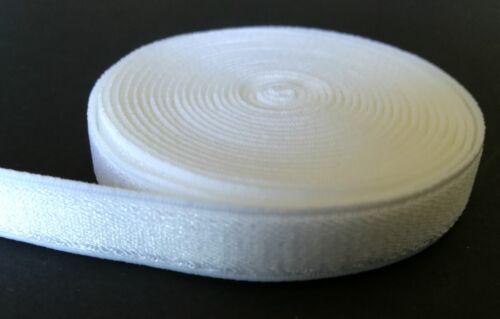 Reggiseno rendendo SATINATA CINGHIA ELASTICA BIANCO Peluche Posteriore 10mm3//8 pollici.