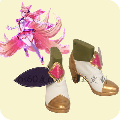 League of legends star gardien Ahri The Nine-Tailed Fox Cosplay Chaussures COS Chaussures