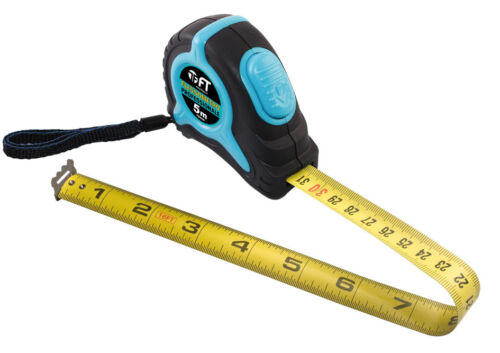 F T Blue 5m Self Locking Tape Measure class 2 DOUBLE SIDED Metric//inches print