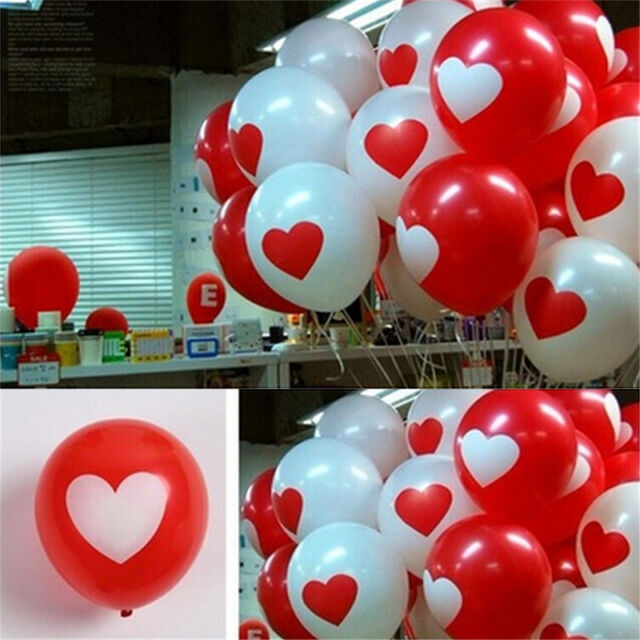 12pc Christmas Red Green White Festive Printed Latex Balloons Air Large Party