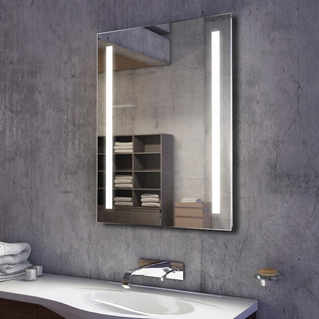Illuminated Bathroom Bathroom Bathroom Mirror with Sensor, Demister and Shaver - Trina - c1315 781155