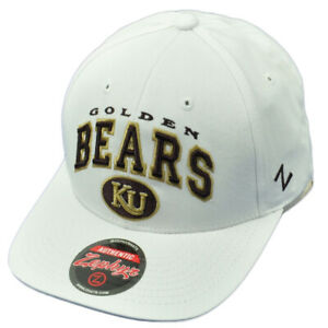 NCAA Zephyr Kutztown Golden Bears KU White Snapback Curved Bill Hat Cap Sports