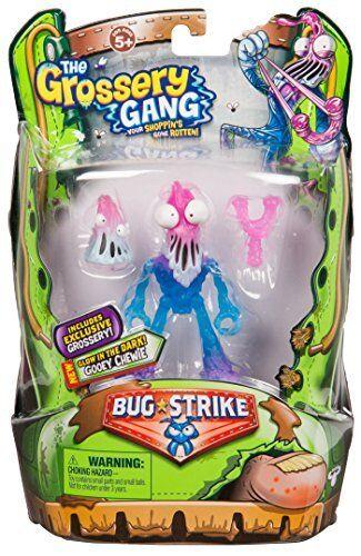 Grossery GANG S4 Bug Strike Action Figur -Gooey Chewie barnleksak Gift NY