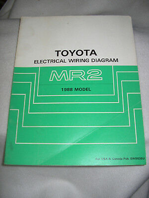 1988 Toyota MR2 electrical wiring diagram service manual ...