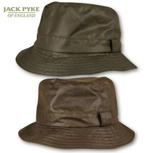 6777c5db707 JACK PYKE MENS WAX BUSH HAT WATERPROOF WAXED COTTON HUNTING SHOOTING ...