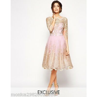 CHI CHI LONDON PREMIUM METALLIC SHARNIE PARTY PROM WEDDING DRESS 6 8 10 12 14 16