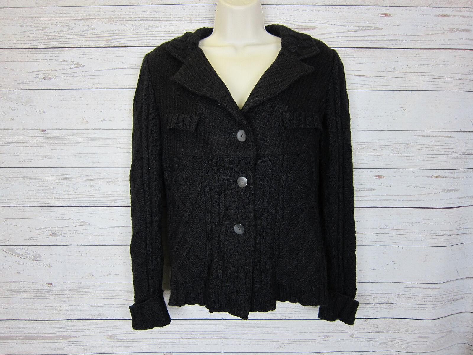 Cosa-Nostra Women's Wool Blend Button Cardigan Sweater Size  40