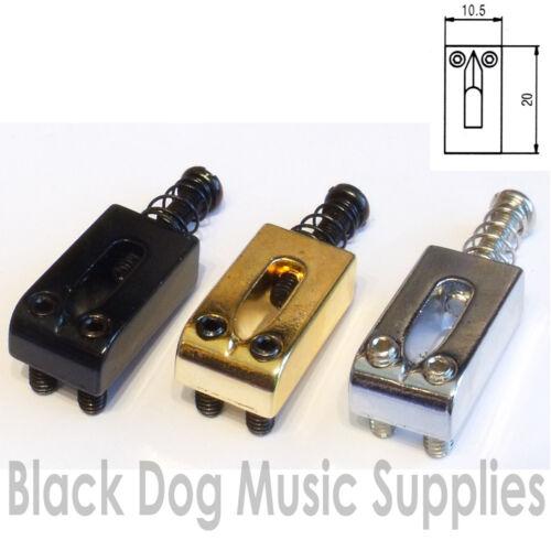 Einzel Strat oder Tely E-Gitarre Saitenreiter in Chrom Schwarz oder Gold