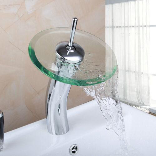 Chrome Salle de bains bassin évier mitigeur robinet seule poignée laiton cascade bec robinets