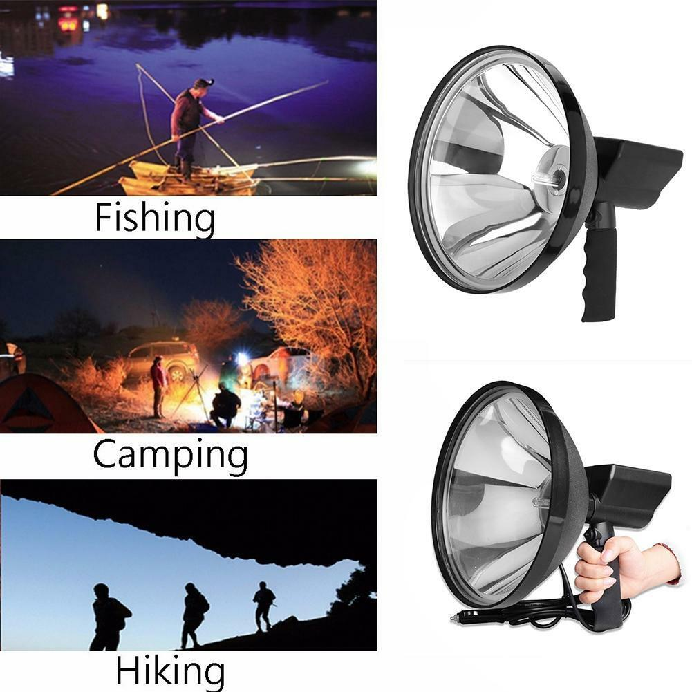 12V 100W 6000K HID 9in  240mm Handheld Lamp Camping Hunting Fishing Spotlight ETC  100% free shipping