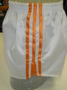 Orange Retro Nylon Satin Sprinter Shorts S to 4XL Grey