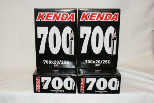Kenda 700x20//25c Presta Valve Bike Inner Tube-Four Tubes 4