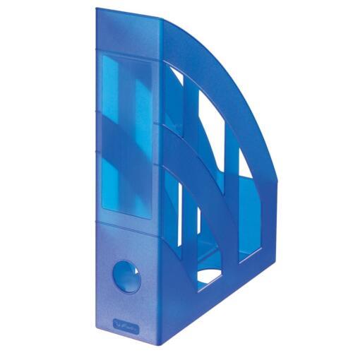 Plastik Stehordner Herlitz Stehsammler transluzent blau Farbe