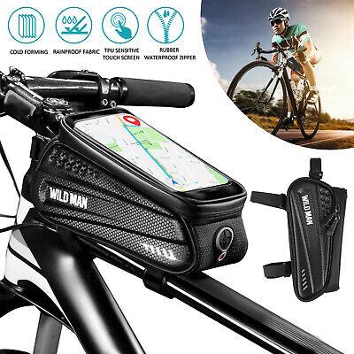 Bicycle Cycling Bike Front Top Tube Frame Bag Mtb Waterproof Phone Holder Case Ebay