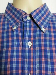 Brooks-Brothers-Country-Club-Long-Sleeve-Button-Down-Shirt-Check-Mens-Medium