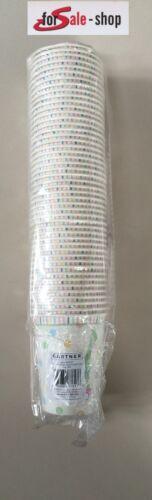 5x 48 Party Trink Becher aus Pappe 240 Stück