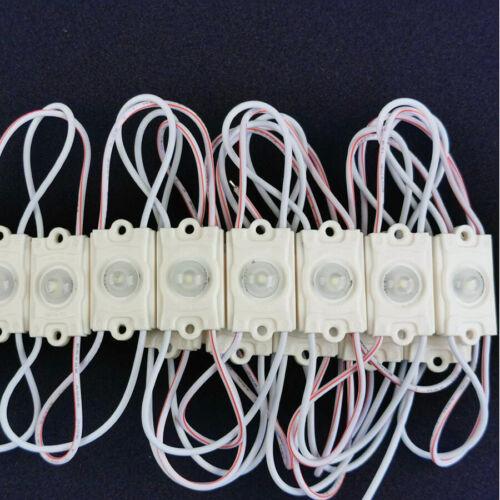 20pcs LED Module SMD 2835 Cool White Sign Design ABS DC12V Waterproof Light Lamp