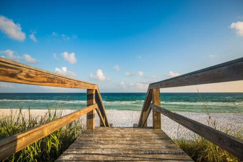 Picture of Sandy Boardwalk Near Destin Florida Beach Photography Art Print