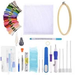 80PCS-Embroidery-Stitching-Punch-Needle-Pen-Kit-Set-Craft-Tool-Thread-DIY-Supply