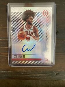 2019-20-Panini-Illusions-Coby-White-Rookie-Signs-Auto-Chicago-Bulls-RC-Rs-Cbw