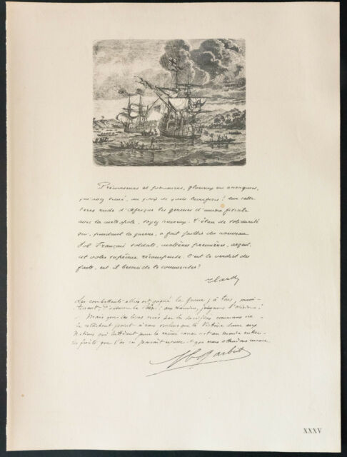 1926 - Litografía citación tarjeta, Garbit (Guerra 14 18)