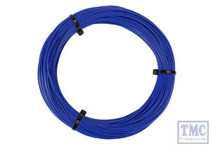 Dcw-dsblu50 Dcc Concepts N/tt/ho/oo/o/g Scale 50m Blue 26x 0.015 Dropper Wire Model Railroads & Trains