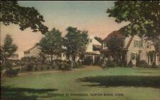 Clinton Beach CT Ridgewood Homes Hand Colored Postcard