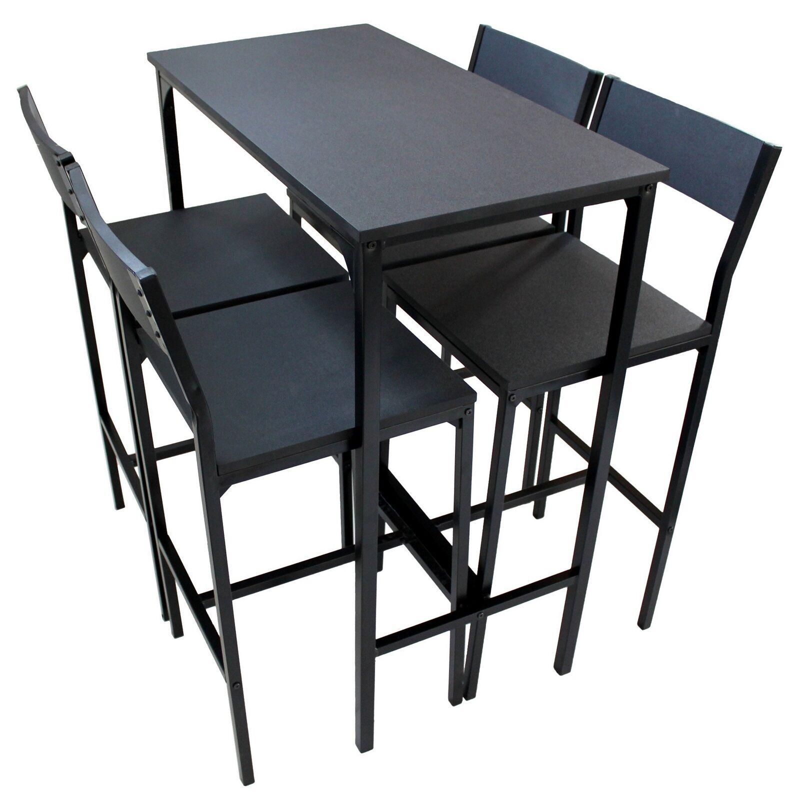 benvenuto per ordinare SET TAVOLO Bar Bar Bar E 4 SGABELLI Mobili Salotto Design NERO Moderno Mod. LIGNANO  lo stile classico