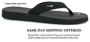 6418b9f7d SHIPS TODAY! NEW ORIGINAL NIKE CELSO THONG BLACK FLIP FLOP SANDALS ...