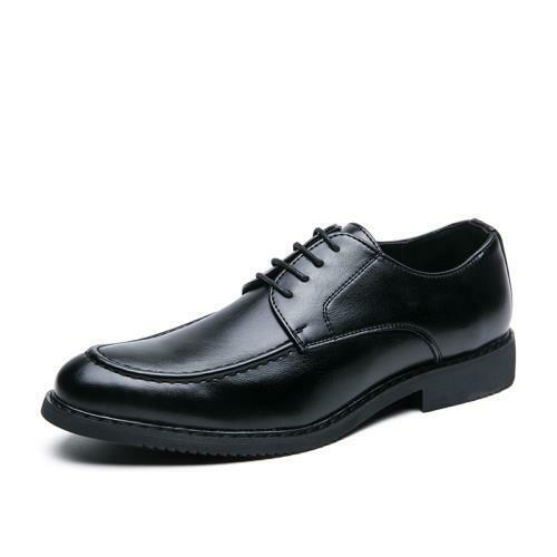 Details about  /Mens Low Top Faux Leather Business Shoes Pointy Toe Oxfords Lace up Party Club L