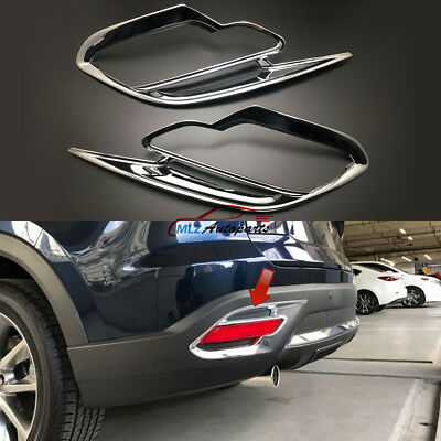 2pcs ABS Chrome Rear Fog Light Lamp Cover Trim Garnish fits Mazda CX-9 2016-2019