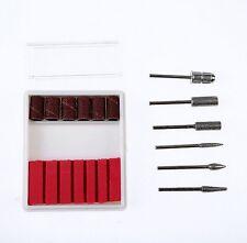 Nail Art Drill KIT Electric FILE Buffer Bits Acrylic Portable Salon Machine U2